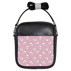 Cute Kawaii Ghost Pattern Girls Sling Bag by Valentinaart