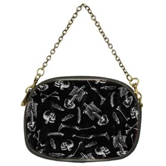 Human Skeleton Pattern   Halloween  Chain Purse (two Sides)