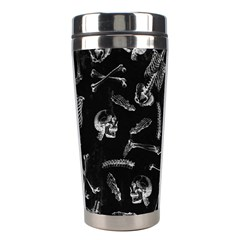 Human Skeleton Pattern   Halloween  Stainless Steel Travel Tumblers by Valentinaart