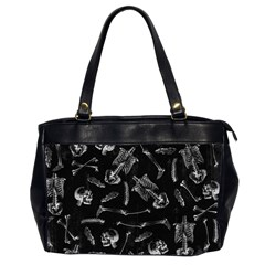 Human Skeleton Pattern   Halloween  Oversize Office Handbag (2 Sides) by Valentinaart