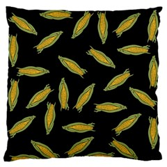 Corn Pattern Standard Flano Cushion Case (one Side) by Valentinaart