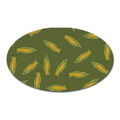 Corn Pattern Oval Magnet by Valentinaart
