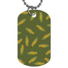Corn Pattern Dog Tag (two Sides) by Valentinaart