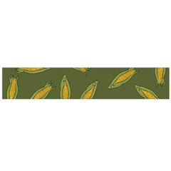 Corn Pattern Large Flano Scarf  by Valentinaart