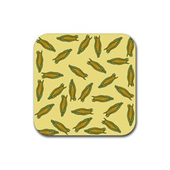 Corn Pattern Rubber Coaster (square)  by Valentinaart