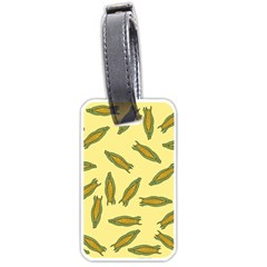 Corn Pattern Luggage Tags (one Side)  by Valentinaart