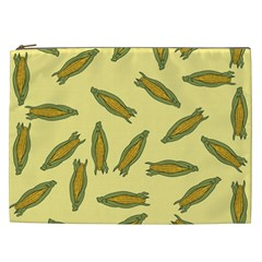Corn Pattern Cosmetic Bag (xxl) by Valentinaart