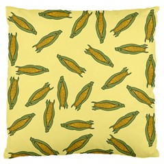 Corn Pattern Large Flano Cushion Case (one Side) by Valentinaart