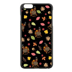 Thanksgiving Turkey Pattern Apple Iphone 6 Plus/6s Plus Black Enamel Case
