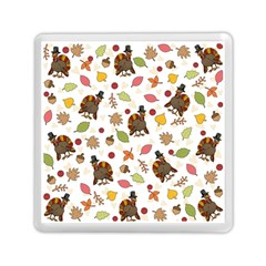 Thanksgiving Turkey Pattern Memory Card Reader (square)