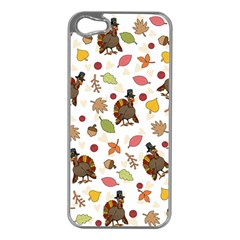 Thanksgiving Turkey Pattern Apple Iphone 5 Case (silver)