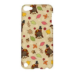 Thanksgiving Turkey Pattern Apple Ipod Touch 5 Hardshell Case by Valentinaart