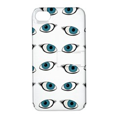 Blue Eyes Pattern Apple Iphone 4/4s Hardshell Case With Stand