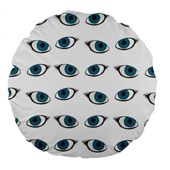 Blue Eyes Pattern Large 18  Premium Flano Round Cushions