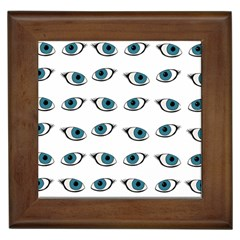 Blue Eyes Pattern Framed Tiles by Valentinaart