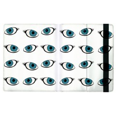 Blue Eyes Pattern Apple Ipad 2 Flip Case by Valentinaart