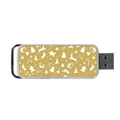 Christmas Pattern Portable Usb Flash (one Side) by Valentinaart
