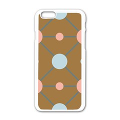 Planets Planet Around Rounds Apple Iphone 6/6s White Enamel Case by Sapixe