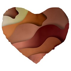 Autumn Copper Gradients Copyspace Large 19  Premium Flano Heart Shape Cushions by Sapixe