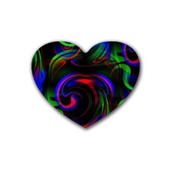 Swirl Background Design Colorful Heart Coaster (4 Pack)