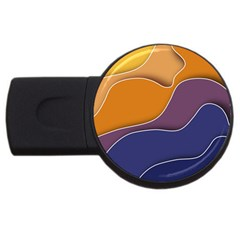 Autumn Copyspace Wallpaper Usb Flash Drive Round (4 Gb) by Sapixe