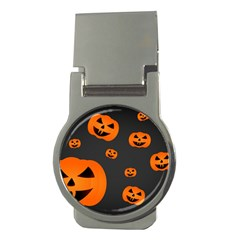 Halloween Pumpkin Autumn Fall Money Clips (round)  by Sapixe