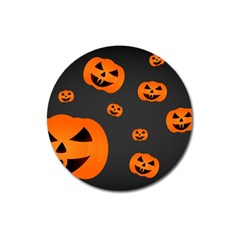 Halloween Pumpkin Autumn Fall Magnet 3  (round) by Sapixe