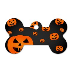 Halloween Pumpkin Autumn Fall Dog Tag Bone (one Side) by Sapixe