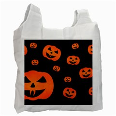 Halloween Pumpkin Autumn Fall Recycle Bag (one Side) by Sapixe