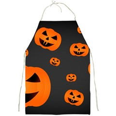 Halloween Pumpkin Autumn Fall Full Print Aprons by Sapixe