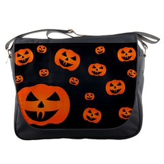 Halloween Pumpkin Autumn Fall Messenger Bag by Sapixe