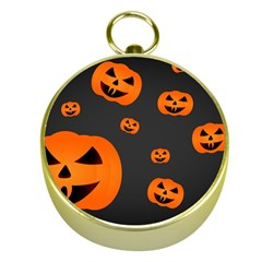 Halloween Pumpkin Autumn Fall Gold Compasses by Sapixe