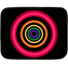 Neon Light Abstract Pattern Lines Double Sided Fleece Blanket (mini)