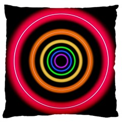 Neon Light Abstract Pattern Lines Large Cushion Case (one Side)