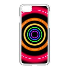 Neon Light Abstract Pattern Lines Apple Iphone 7 Seamless Case (white) by Sapixe