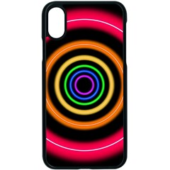 Neon Light Abstract Pattern Lines Apple Iphone X Seamless Case (black)