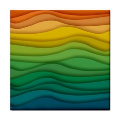 Background Waves Wave Texture Face Towel