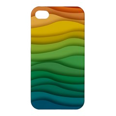 Background Waves Wave Texture Apple Iphone 4/4s Hardshell Case