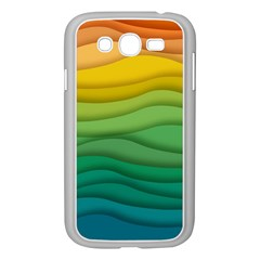 Background Waves Wave Texture Samsung Galaxy Grand Duos I9082 Case (white)