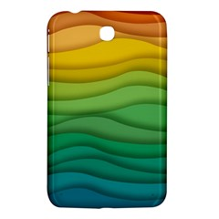Background Waves Wave Texture Samsung Galaxy Tab 3 (7 ) P3200 Hardshell Case