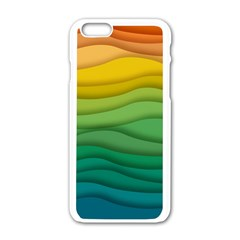 Background Waves Wave Texture Apple Iphone 6/6s White Enamel Case by Sapixe