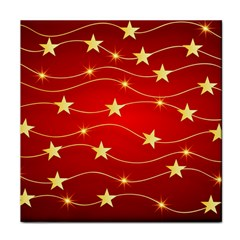 Stars Background Christmas Decoration Face Towel