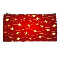 Stars Background Christmas Decoration Pencil Cases