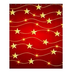 Stars Background Christmas Decoration Shower Curtain 60  X 72  (medium)  by Sapixe