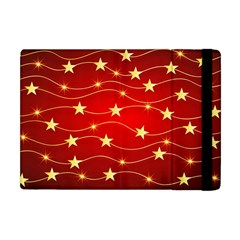Stars Background Christmas Decoration Apple Ipad Mini Flip Case