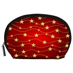 Stars Background Christmas Decoration Accessory Pouch (large) by Sapixe