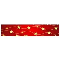 Stars Background Christmas Decoration Small Flano Scarf