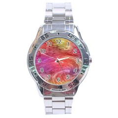 Background Wallpaper Abstract Stainless Steel Analogue Watch