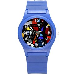 Art Bright Lead Glass Pattern Round Plastic Sport Watch (s) by Sapixe