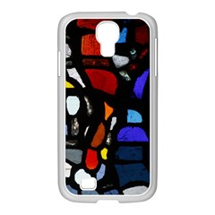 Art Bright Lead Glass Pattern Samsung Galaxy S4 I9500/ I9505 Case (white) by Sapixe
